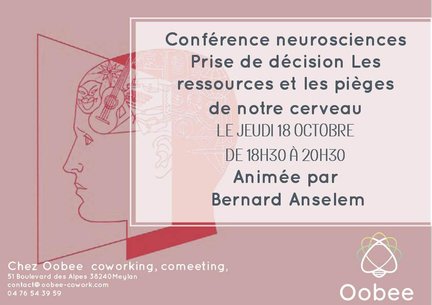 Conférence neurosciences : Prise de décision, les ressources et les pièges de notre cerveau.