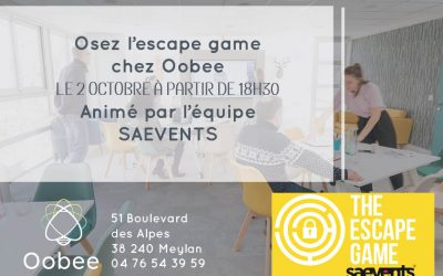 Escape game en collaboration avec Saevents